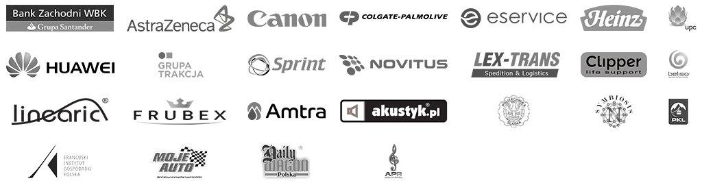 Logotypy naszych Klientów
