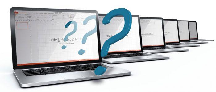 Monitory komputerów z Powerpoint
